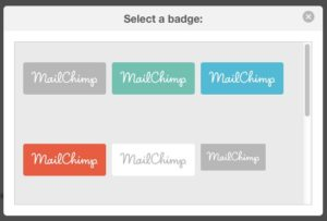 how to change mailchimp footer