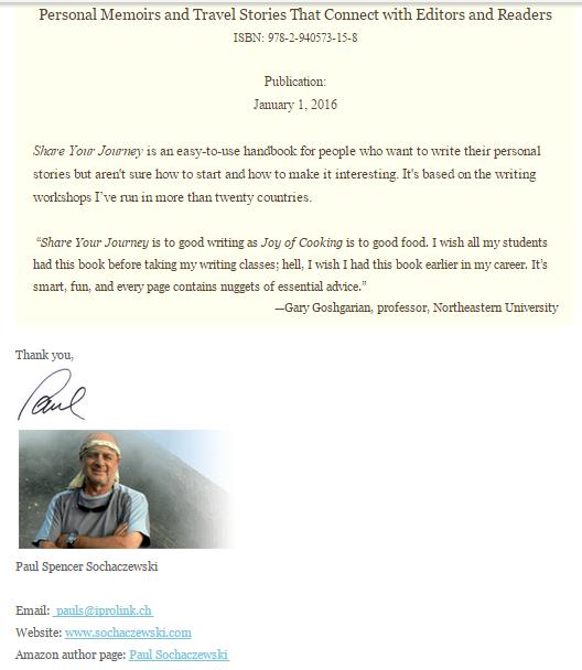 Paul Sochaczewski Email Campaign