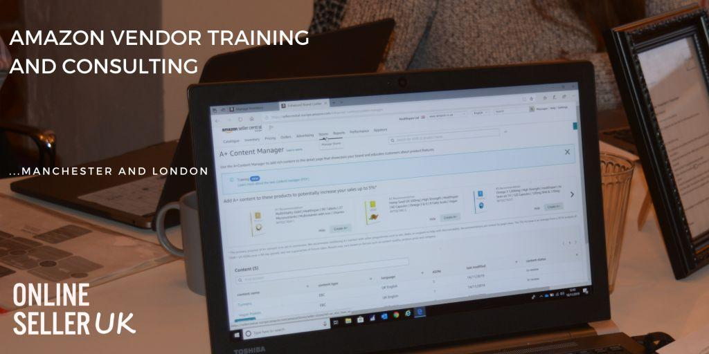Amazon Vendor Training and Consulting London & Manchester with Prabhat Shah - Amazon Vendor Expert